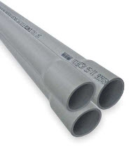 PVC 400 4IN SCHD40 PVC CONDUIT 10' TOP 500 ITEM