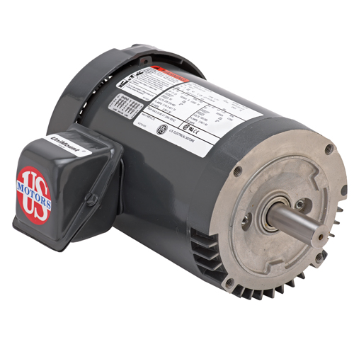 USEM U32P2DFCR 1-1/2HP 1755 & 1440RPM 208-230/460 & 190/380V 60 & 50HZ 56C 3PH MOTOR