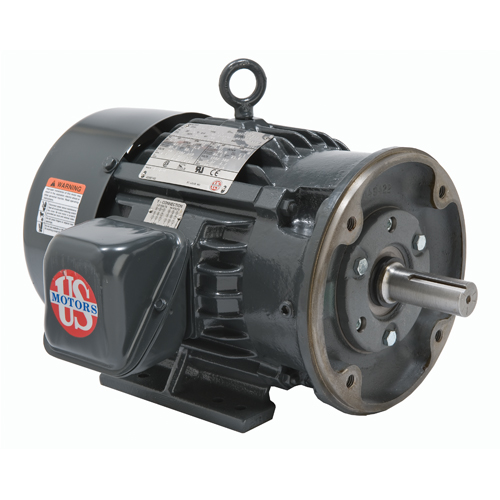USEM H5P2DC 5HP 1760 & 1440RPM 208-230/460 & 190/380V 60 & 50HZ 184TC 3PH MOTOR
