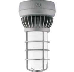 RAB VXLED13DG 13W LED VAPORPROOF, COOL LIGHT CEILING MT FROSTED GLOBE