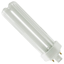 "PLUS PL42W/3U/4P/841 42W T4 4PIN TRIPLE COMP FLUOR LAMP 4100K 10,000HRS GX24Q-4 DIMMABLE 3200 LUMENS MOL=6.77"" #4047"