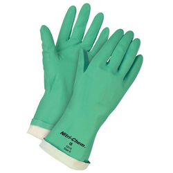 DBC MEMPHIS-5319 15MIL GREEN NITRILE FLOCK LINED GLOVES