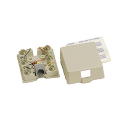 CSI 625A28NK-2-50 8-CONDUCTOR, SCREW TERMINAL, RJ48X SHORTING BAR WIRING(1&4, 2&5) IVORY